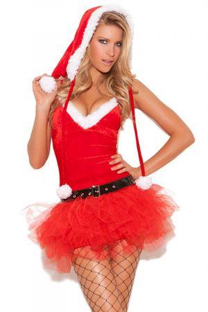 SWEETIE MISS SANTA CHRISTMAS COSTUME