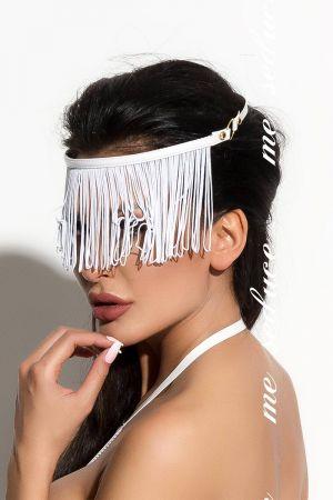 FRINGED BLINDFOLD WHITE